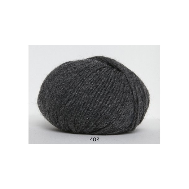 Hjertegarn - Incawool 402 Mørk grå