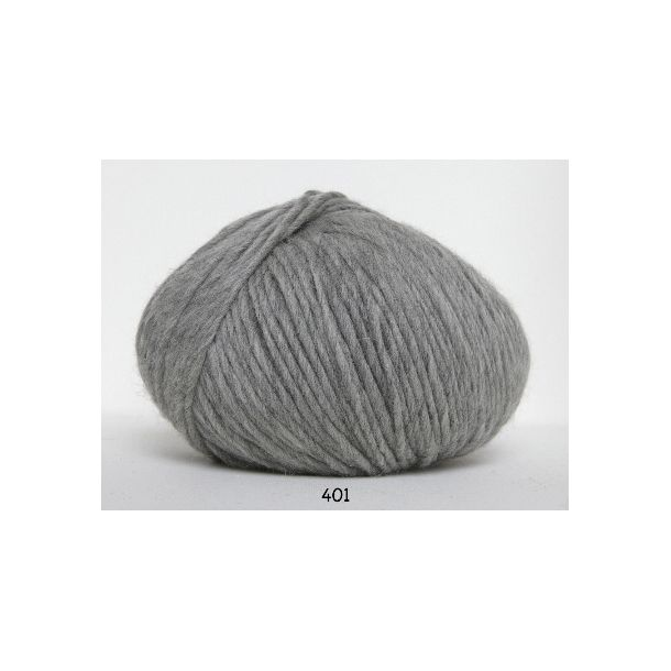 Hjertegarn - Incawool 0401 Lys grå