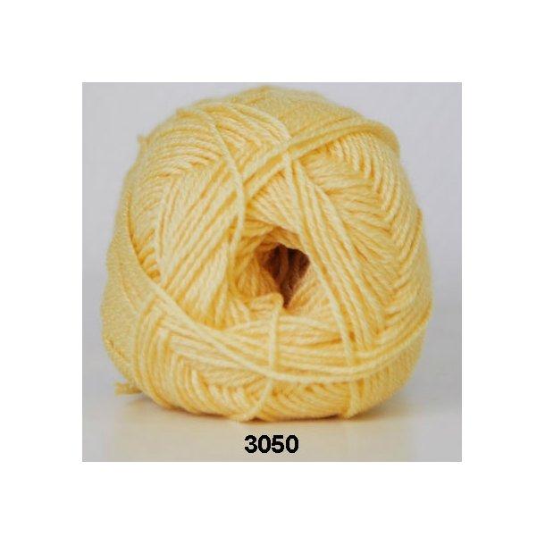 Hjertegarn - Lana Cotton 3050 Lys gul