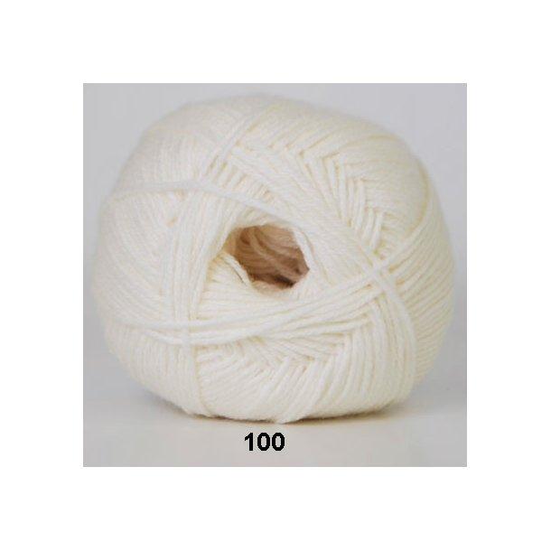 Hjertegarn - Lana Cotton 100 Råhvid