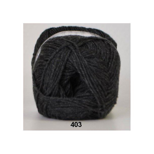 Hjertegarn - Lana Cotton 403 Koksgrå