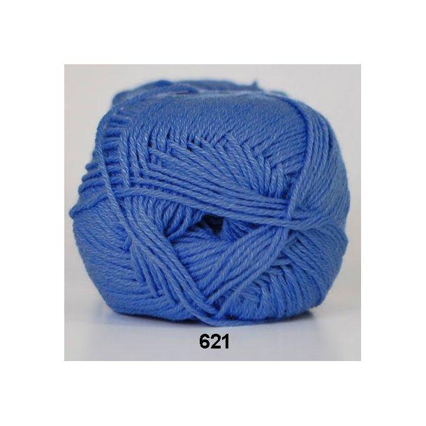 Hjertegarn - Lana Cotton 621 Mellemblå