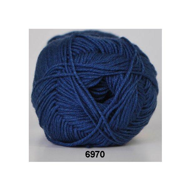 Hjertegarn - Lana Cotton 6970 Mørk blå