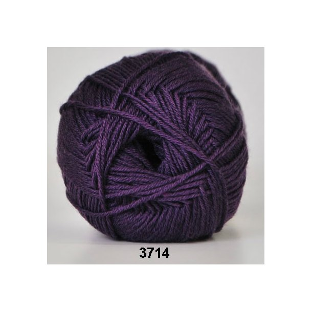 Hjertegarn - Lana Cotton 3714 Lilla