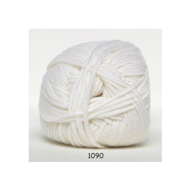 Hjertegarn - Merino Cotton 1090 Hvid