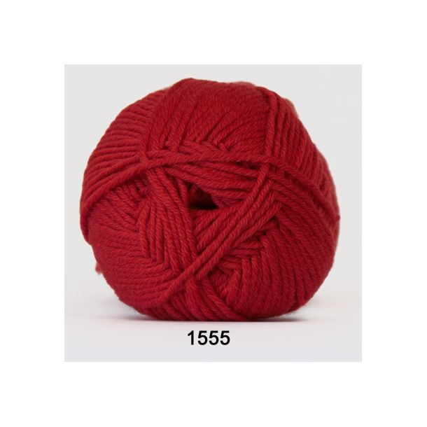 Hjertegarn - Merino Cotton 1555 Rød/orange