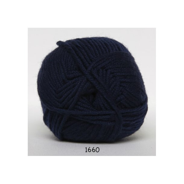 Hjertegarn - Merino Cotton 1660 Marineblå