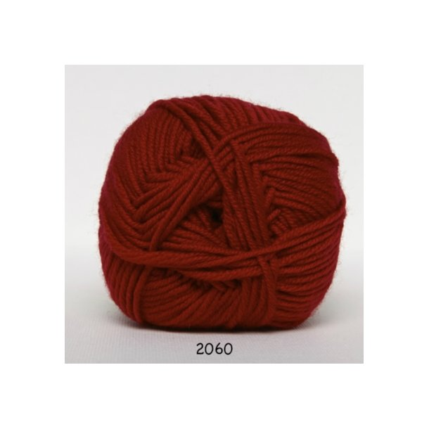 Hjertegarn - Merino Cotton 2060 Rød