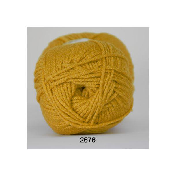 Hjertegarn - Merino Cotton 2676 Lys Karrygul