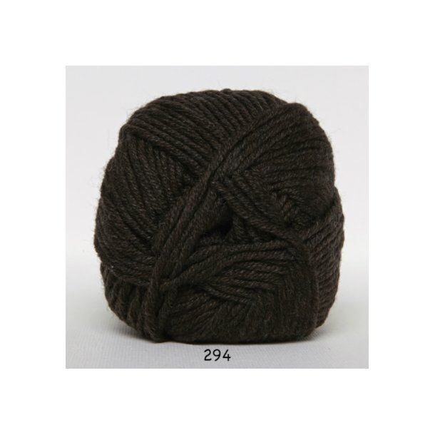Hjertegarn - Merino Cotton 294 Mørkebrun