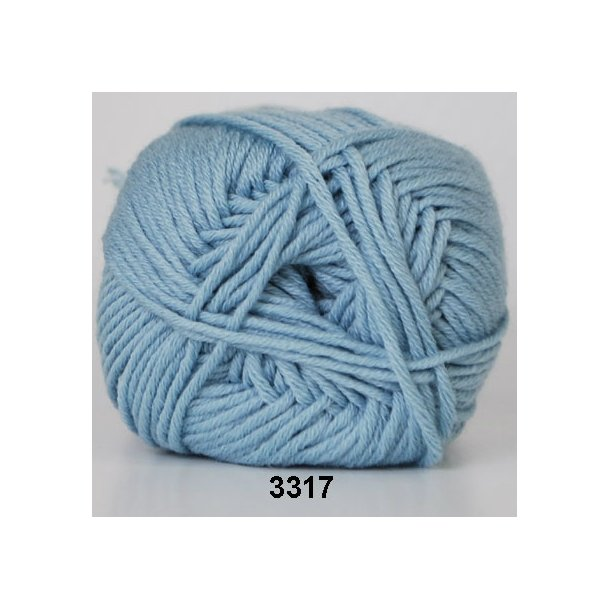 Hjertegarn - Merino Cotton 3317 Turkis