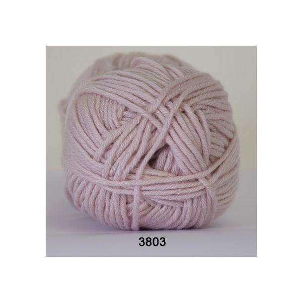 Hjertegarn - Merino Cotton 3803 Lys gammelrosa