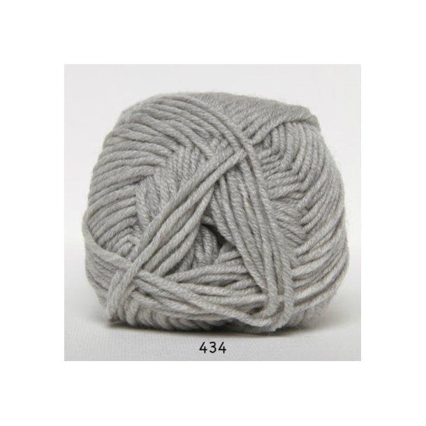 Hjertegarn - Merino Cotton 434 Lys grå