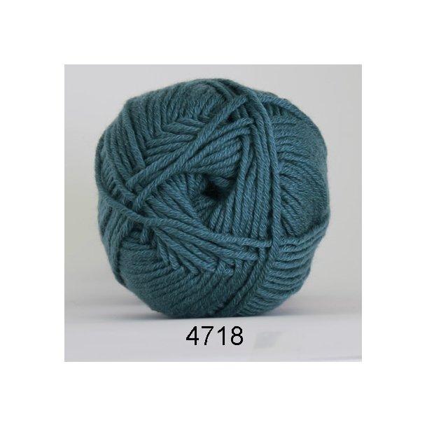 Hjertegarn - Merino Cotton 4718 Blågrøn