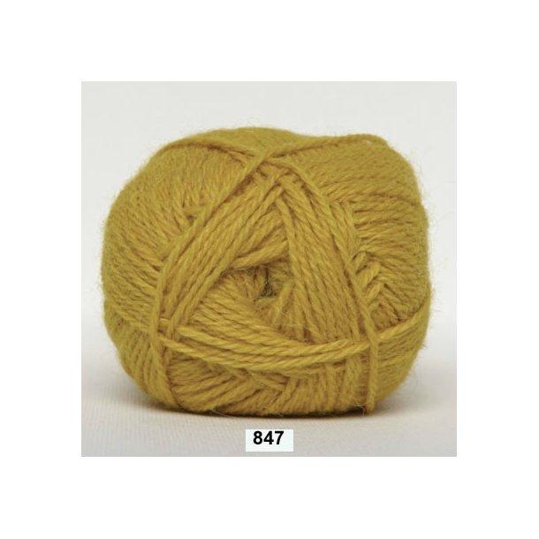 Hjertegarn - Merino Cotton 847 Sennepsgul
