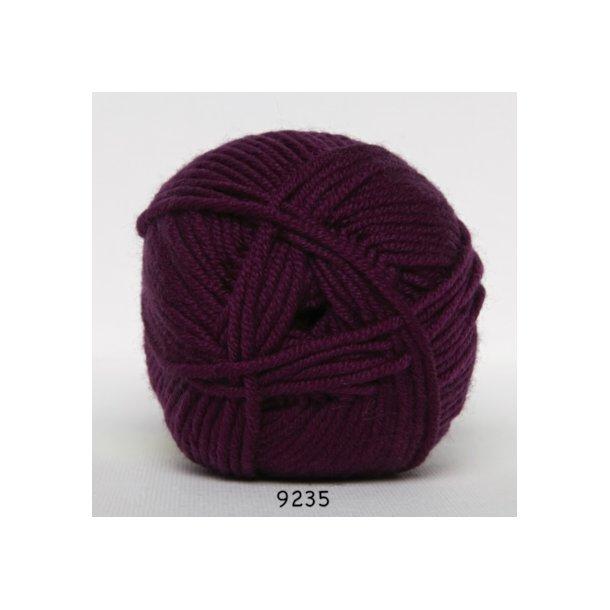 Hjertegarn - Merino Cotton 9235 Mørk blomme