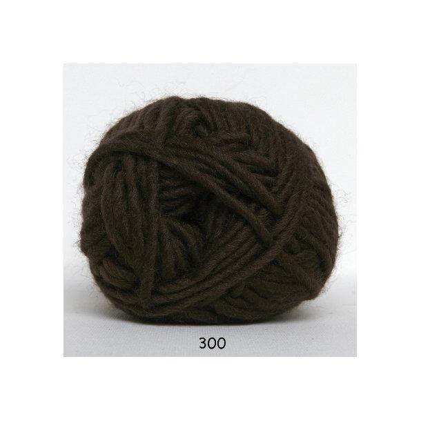 Hjertegarn - Naturuld 1300 Mørk brun