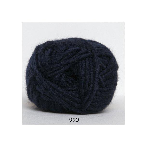 Hjertegarn - Naturuld 990 Marineblå