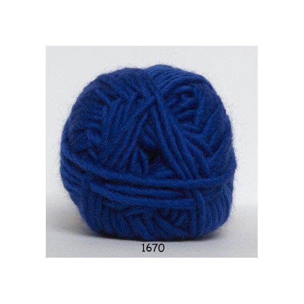 Hjertegarn - Naturuld 1670 Koboltblå