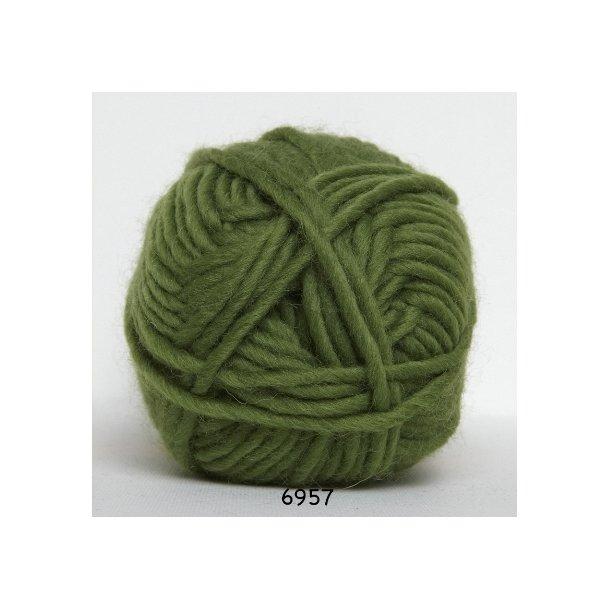 Hjertegarn - Naturuld 6957 Græsgrøn