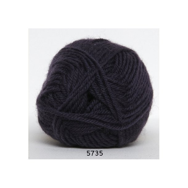 Hjertegarn - Vital Superwash 5735 Mørk lilla