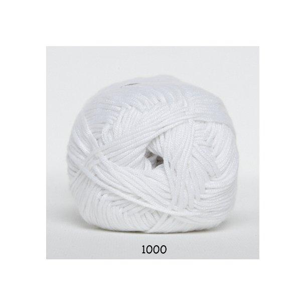 Hjertegarn - Blend bamboo 1000 Hvid