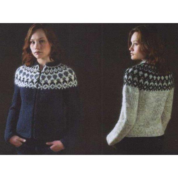 Islandsk trøje med lynlås