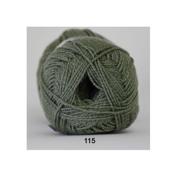Hjertegarn - Lana Cotton 115 Støvet meleret grøn
