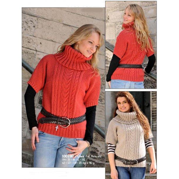 Sweater med korte ærmer