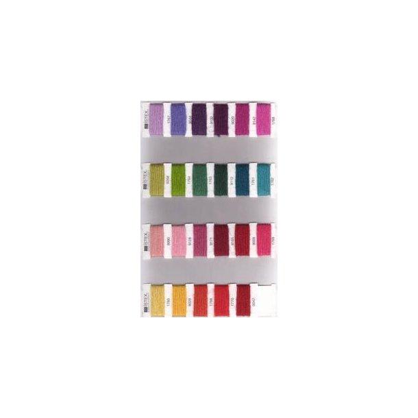 Farvekort til Eindband - Spindegarn