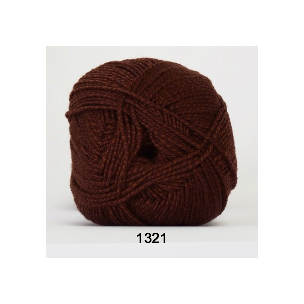 Hjertegarn - Lana Cotton 1321 Rødbrun