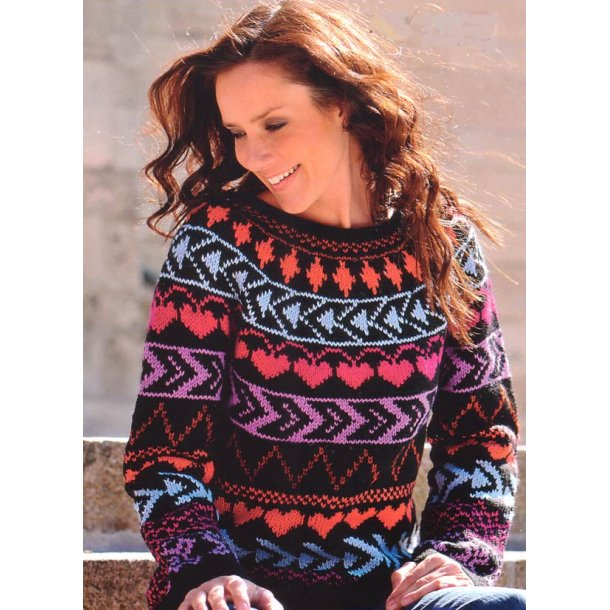 Multifarvet sweater