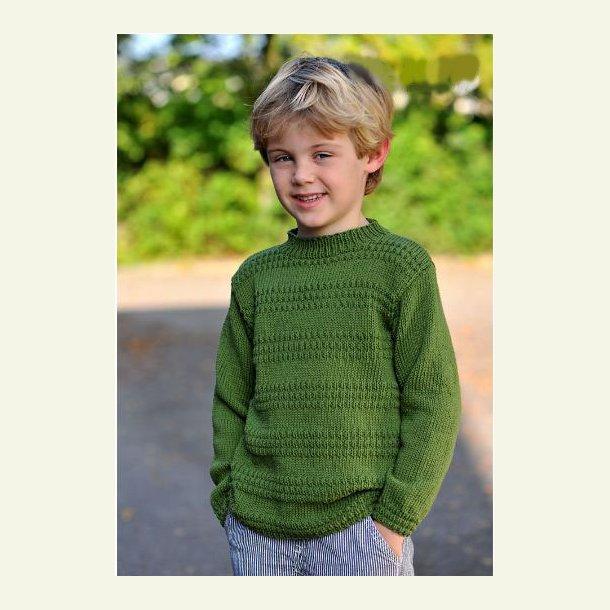 Sweater med ribmønster