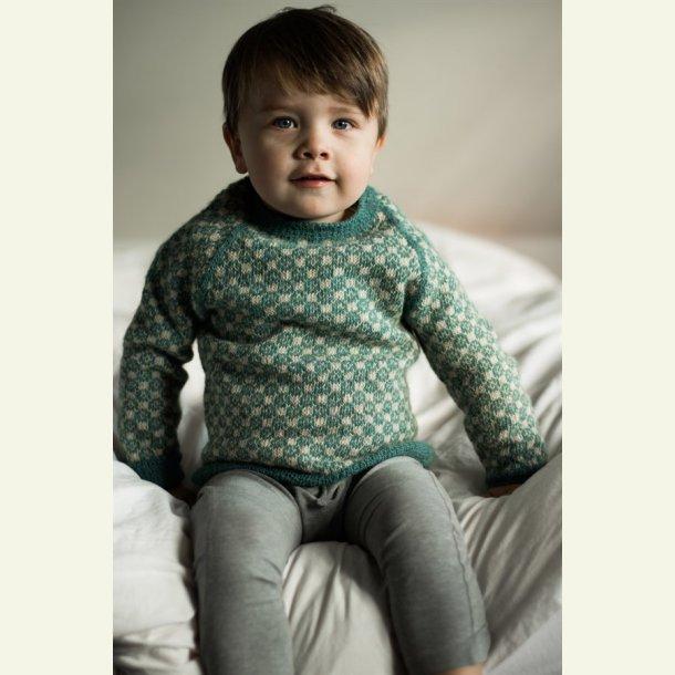 Strikkekit - Louis sweater fra CaMaRose. Str. 1 år