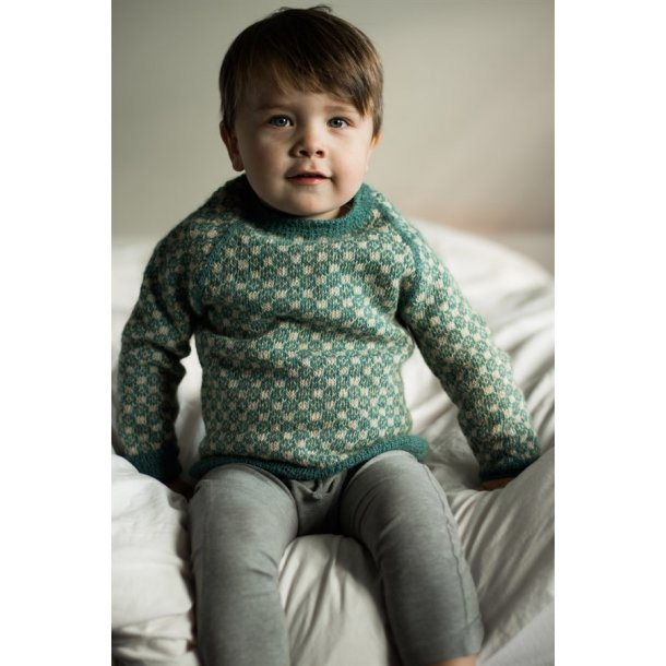 Strikkekit - Louis sweater fra CaMaRose. Str. 1 år