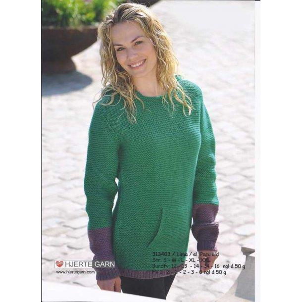 Retstrikket sweater