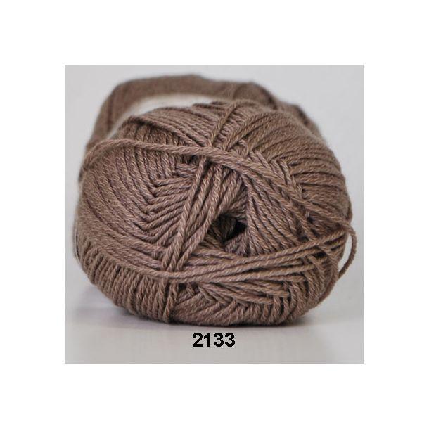 Hjertegarn - Lana Cotton 2133 Meleret brun