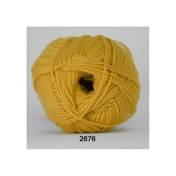 Hjertegarn - Lana Cotton 2676 Gul
