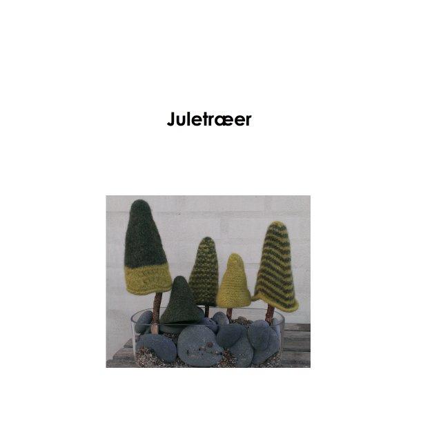 Filtede juletræer - Strikkeopskrift - PDF