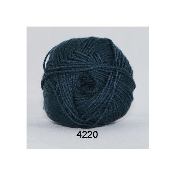Hjertegarn - Lana Cotton 4220 Mørk Gråblå