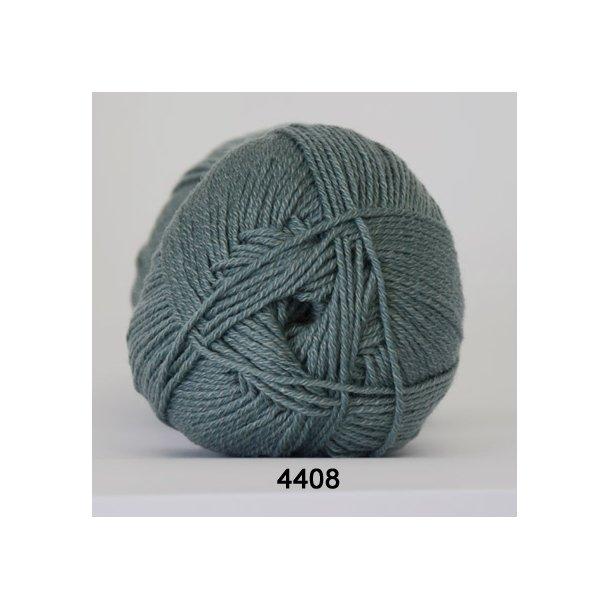 Hjertegarn - Lana Cotton 4408 Grågrøn