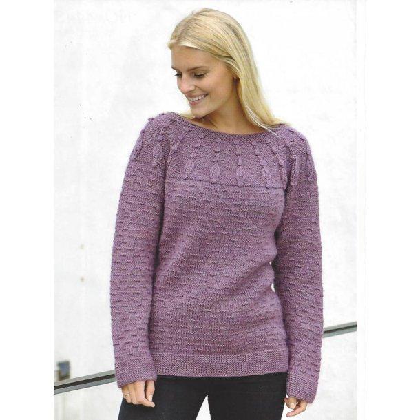 Sweater i uld og mohair