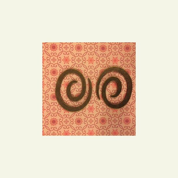 Lukning spiral - gammel guld - 50 mm