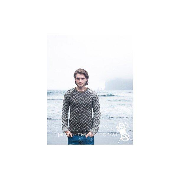 Opskrift Navia - Mønstret sweater til mænd