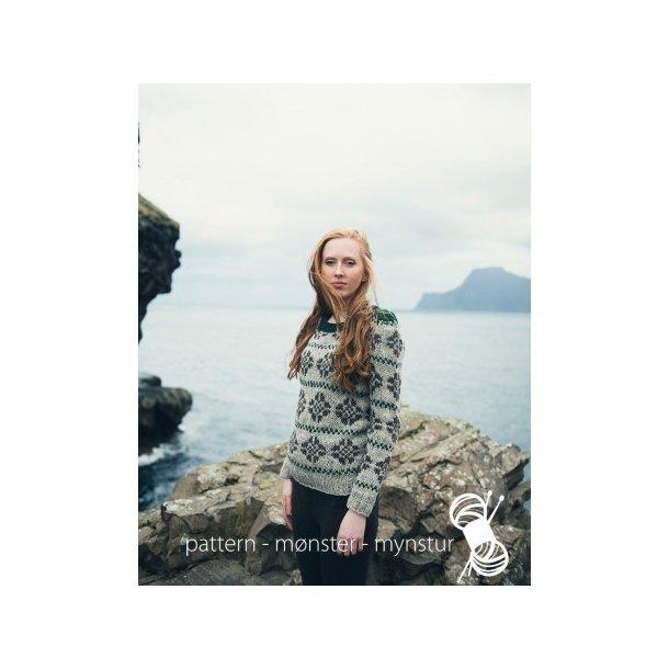 Opskrift Navia - Mønstret sweater til damer