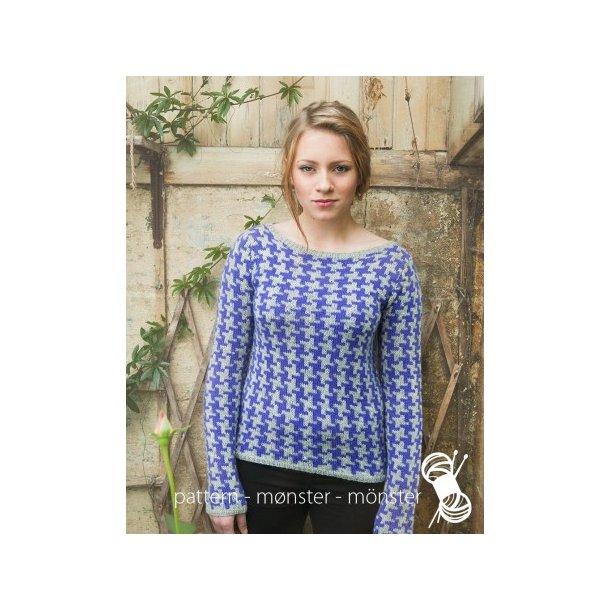 Opskrift Navia - Sweater med hanefjedmønster