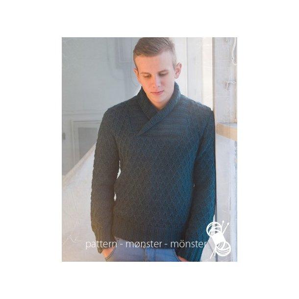 Opskrift Navia - Sweater med sjalskrave