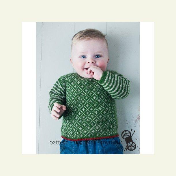 strikkeopskrift baby trøje