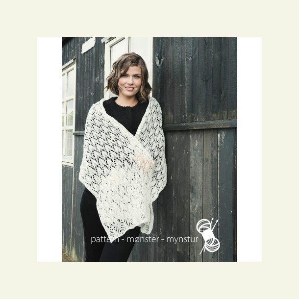 Opskrift Navia - Tørklæde med hulmønster