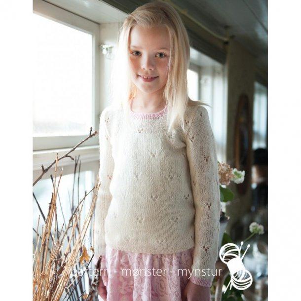 Opskrift Navia - Bluse med hulmønster til piger